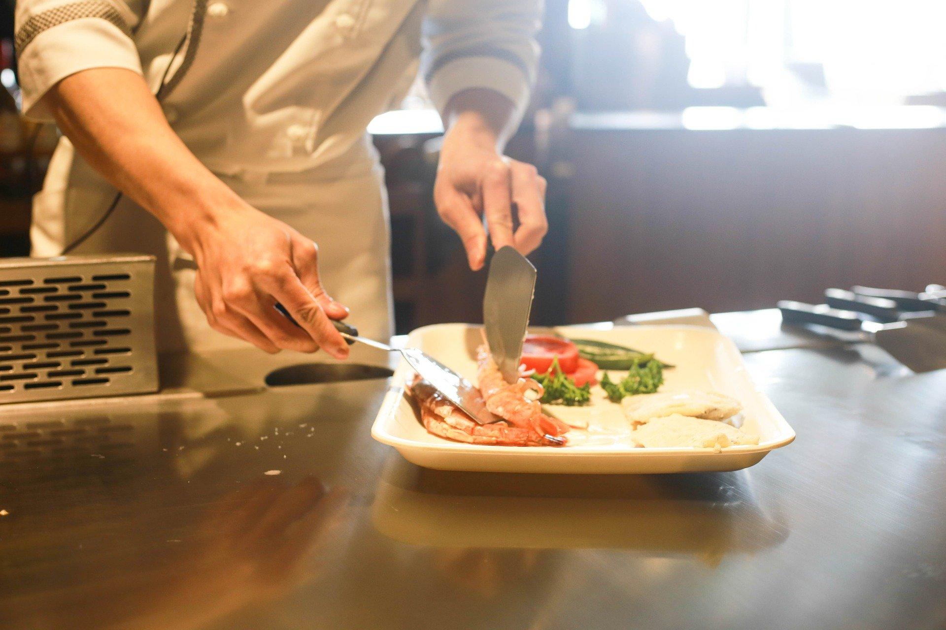 cozinha e serviços para restaurante